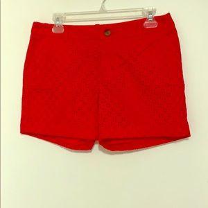 Fuschia Eyelet Shorts